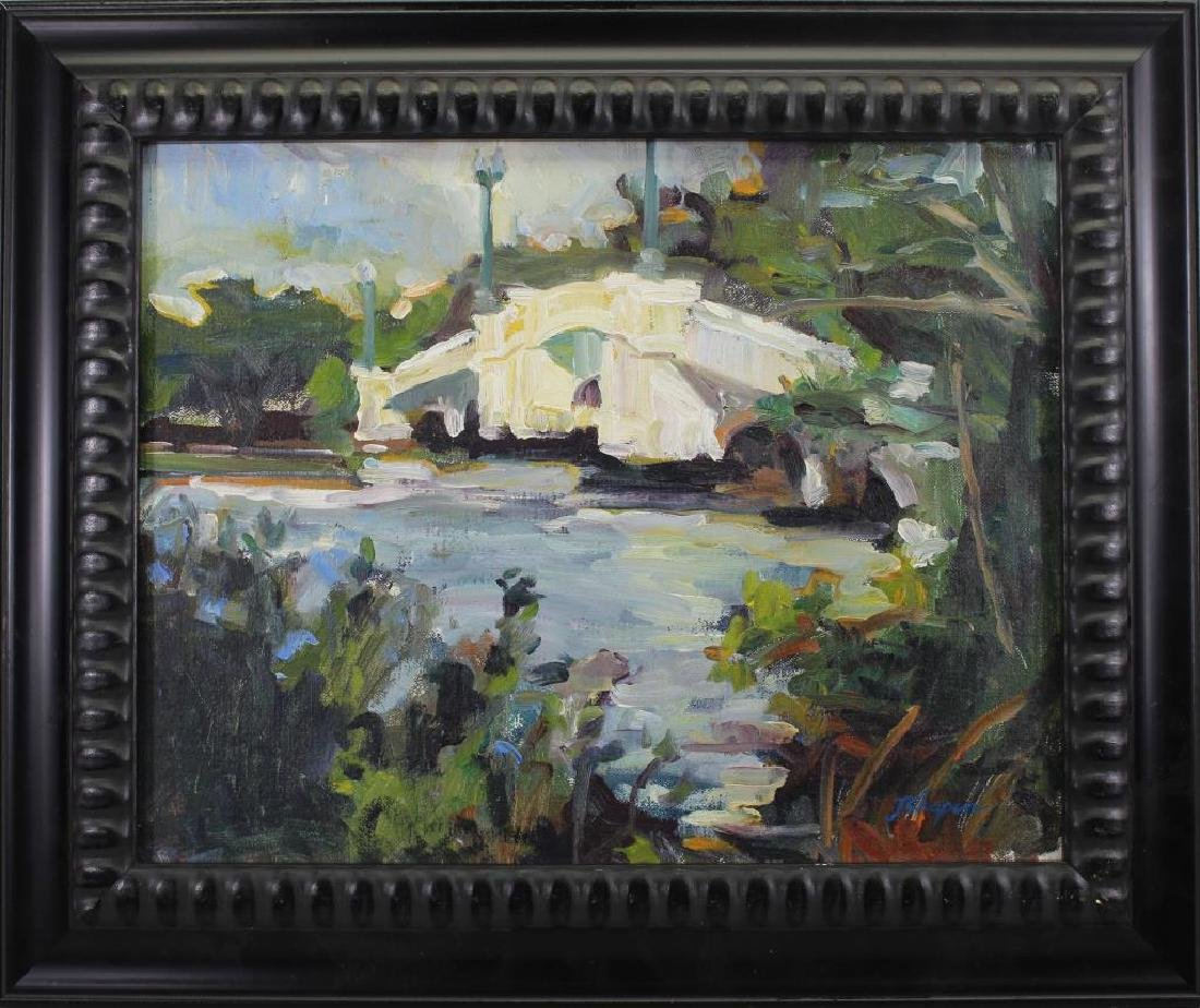 American School 20th C. River landscape