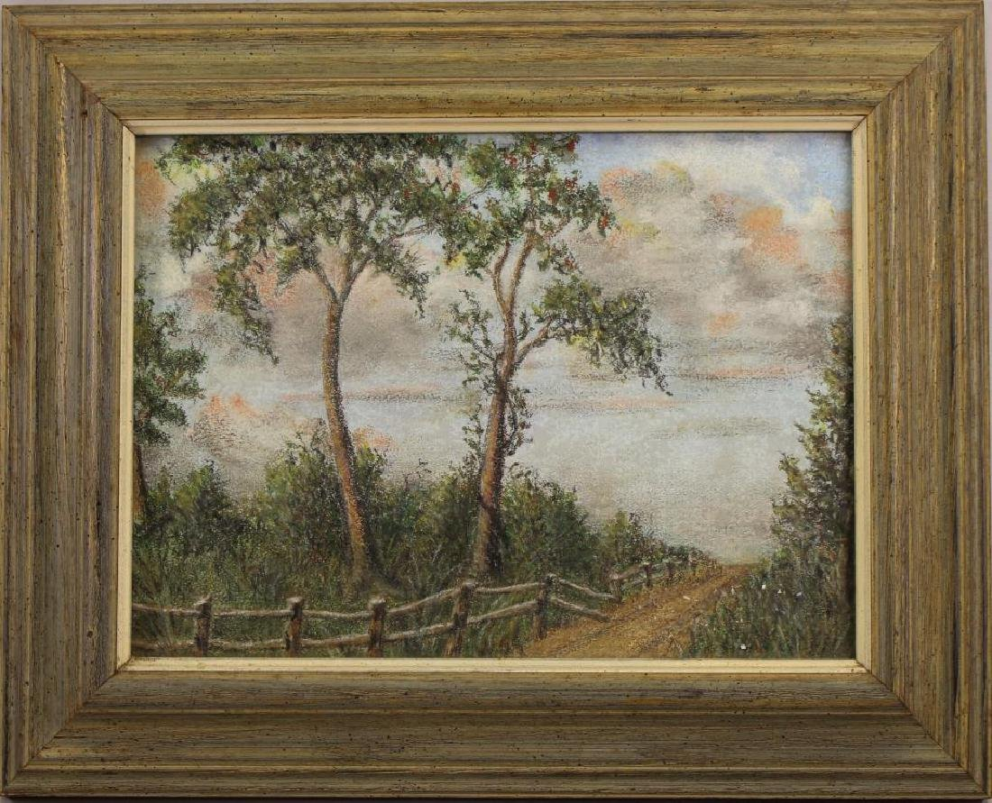 American School, Painting of a Wooded Pathway