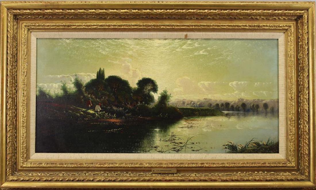 """""""River Landscape"""" Edwin Boddington Jr (1836-1905)"""