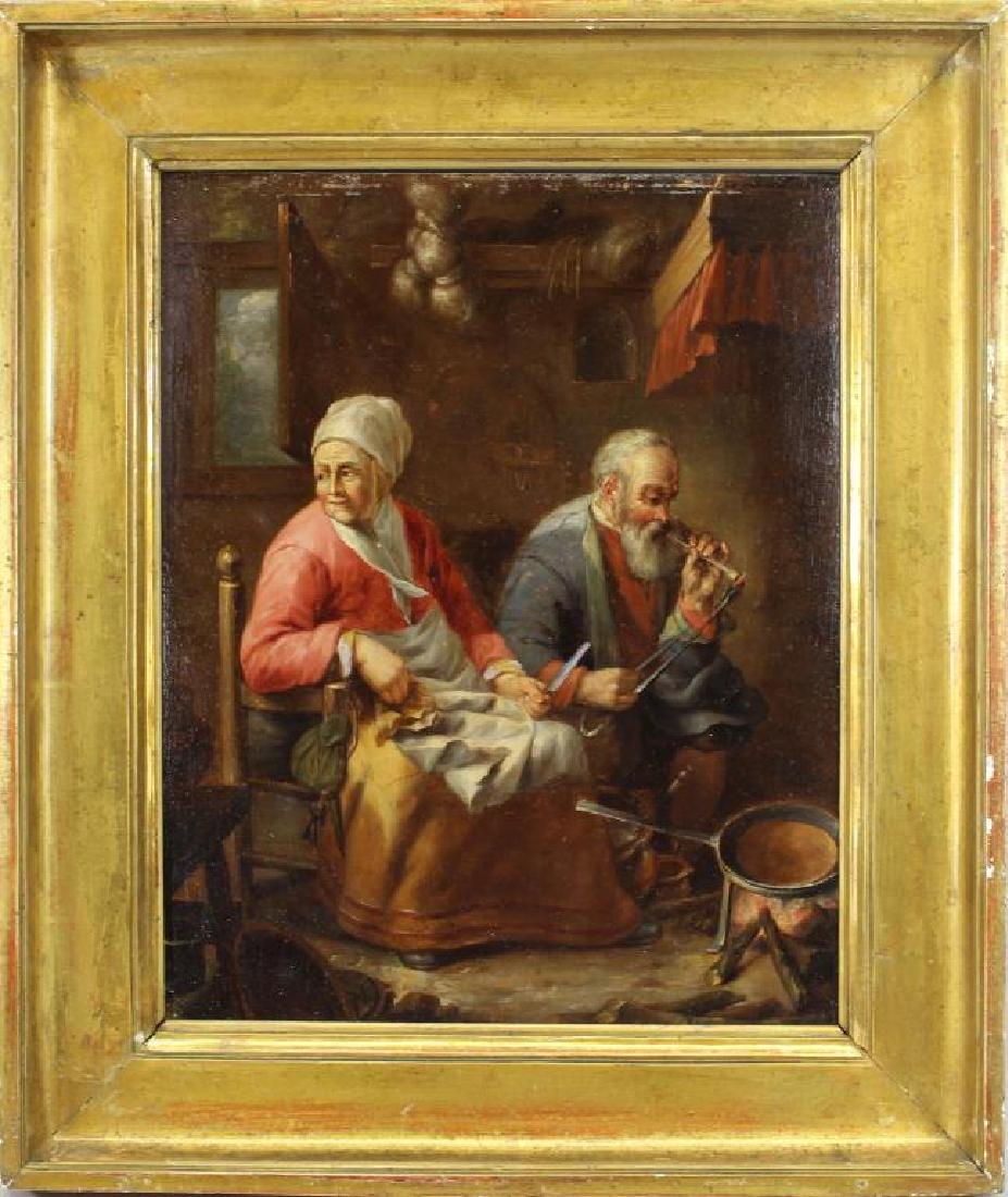 19th C. European Interior Scene, Ex Christie's