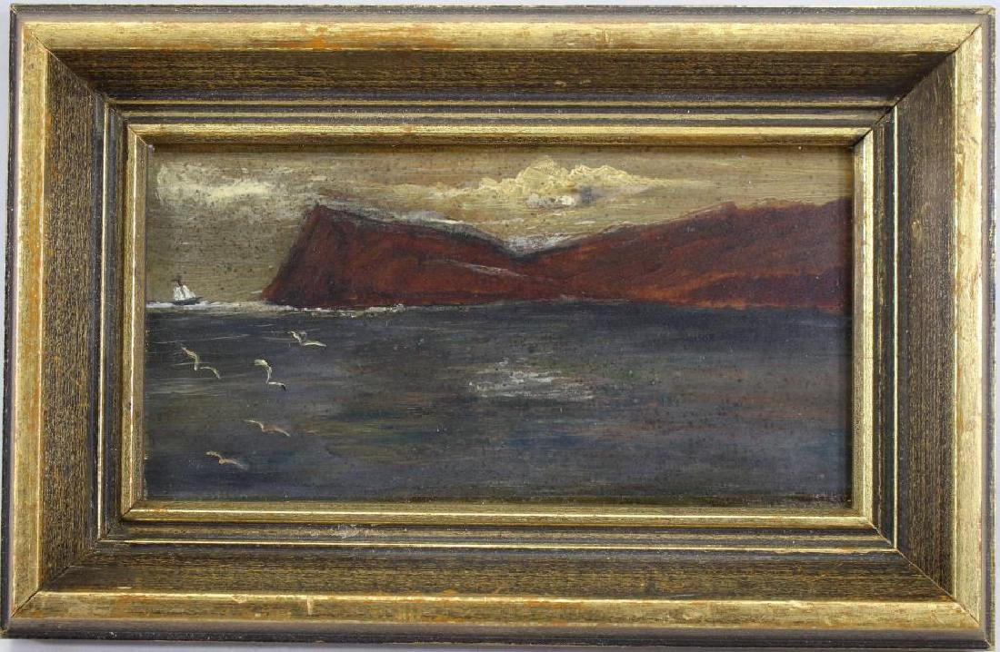 American School Painting of a Coastal Scene