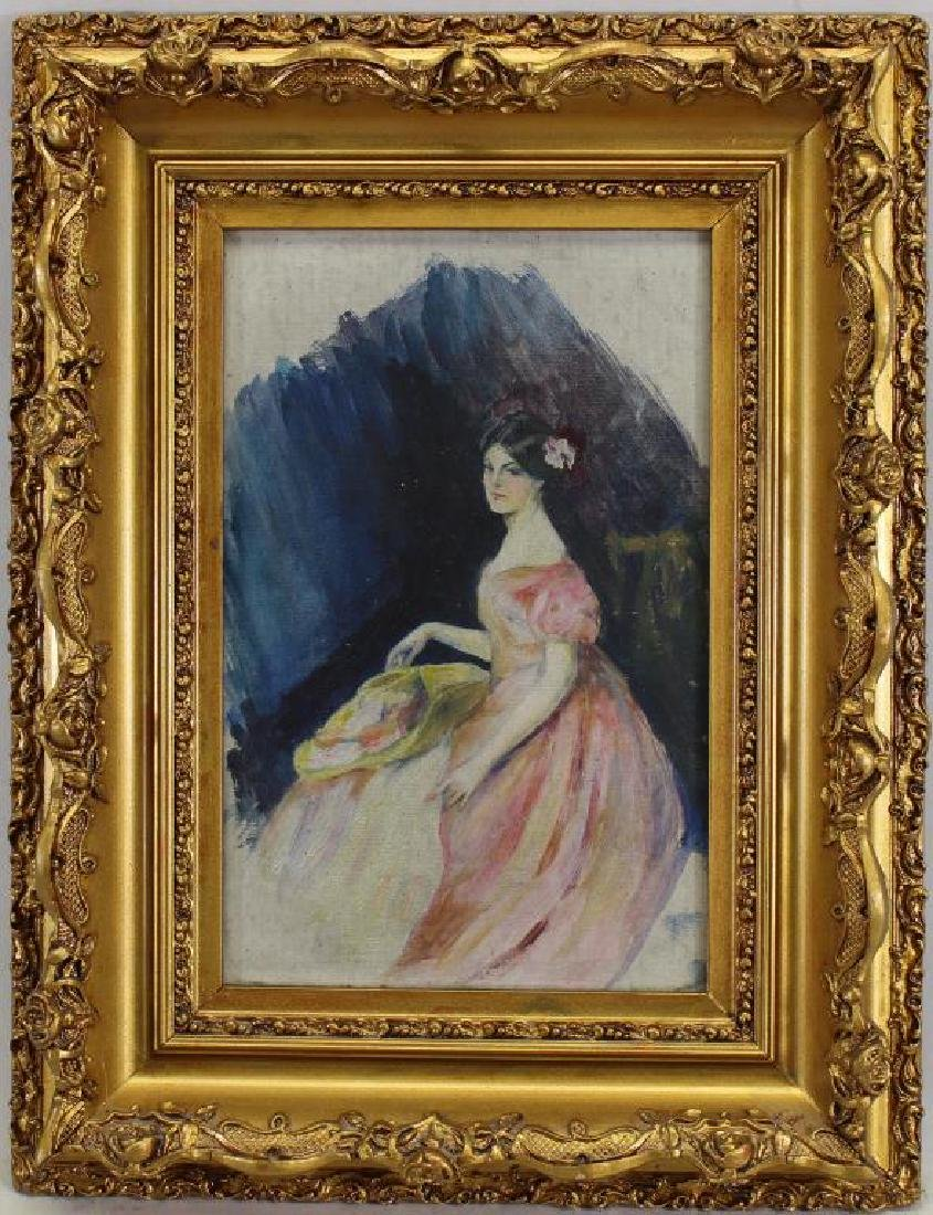 American School, Early 20th C. Portrait of Woman