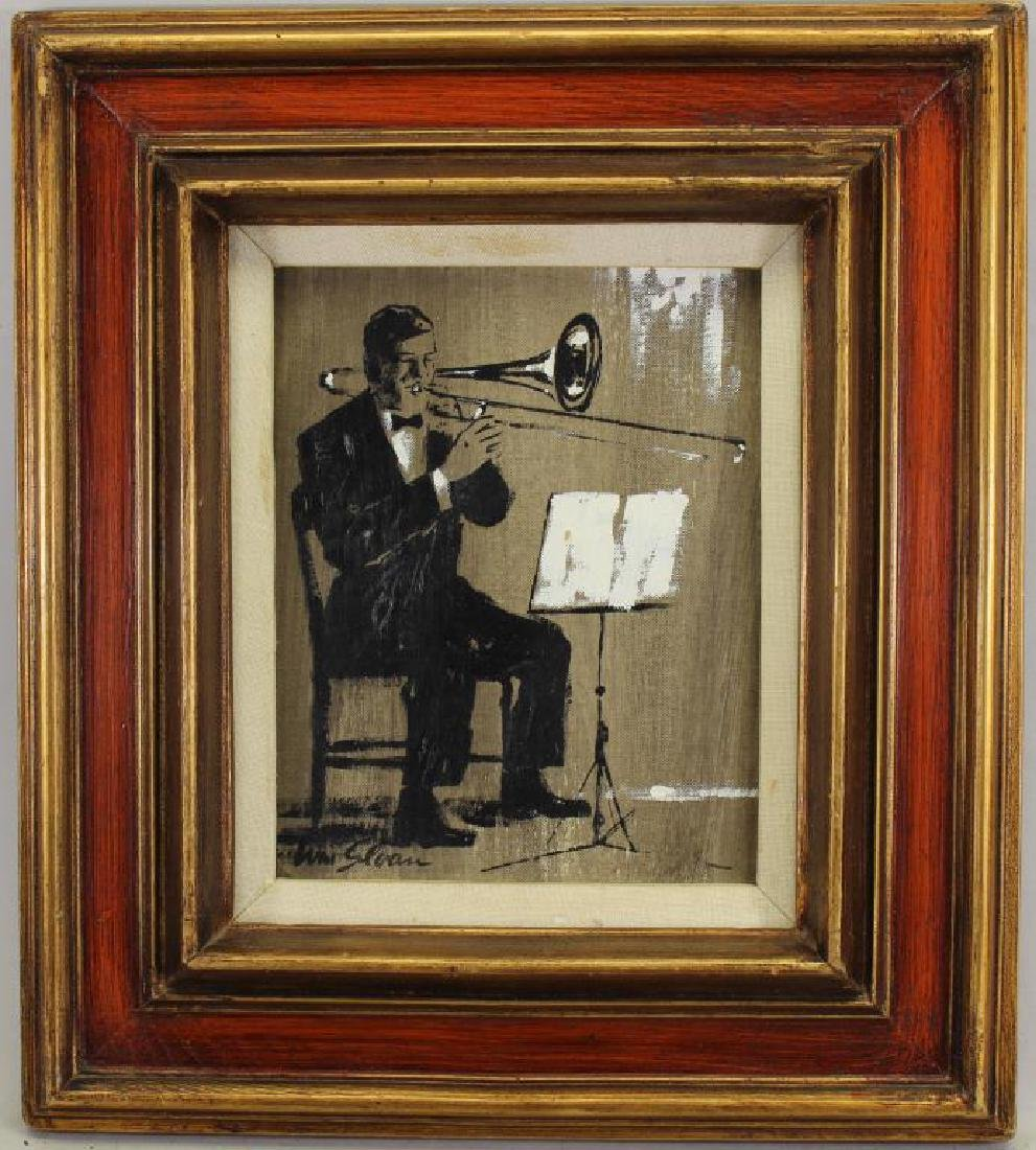 William Sloan, Painting of Man Playing Trombone