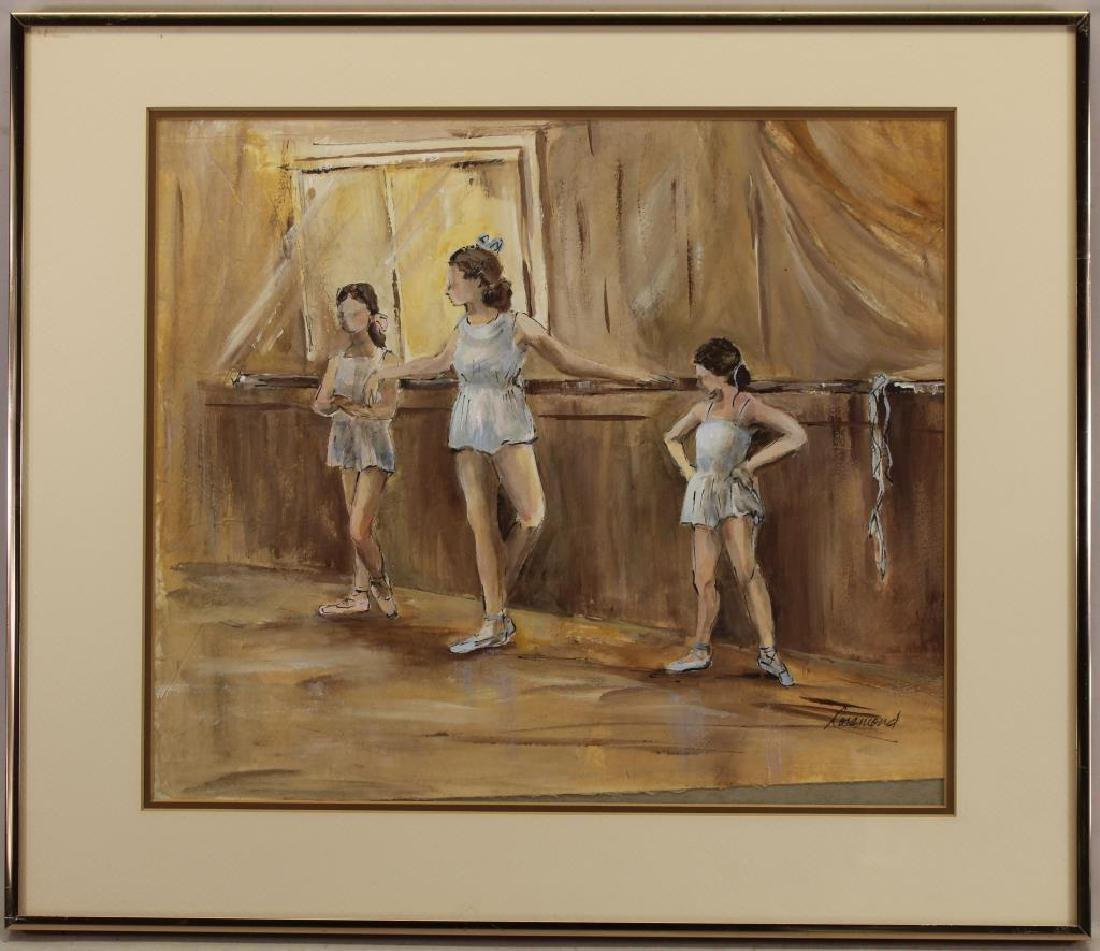 Signed, American School Painting of Ballerinas