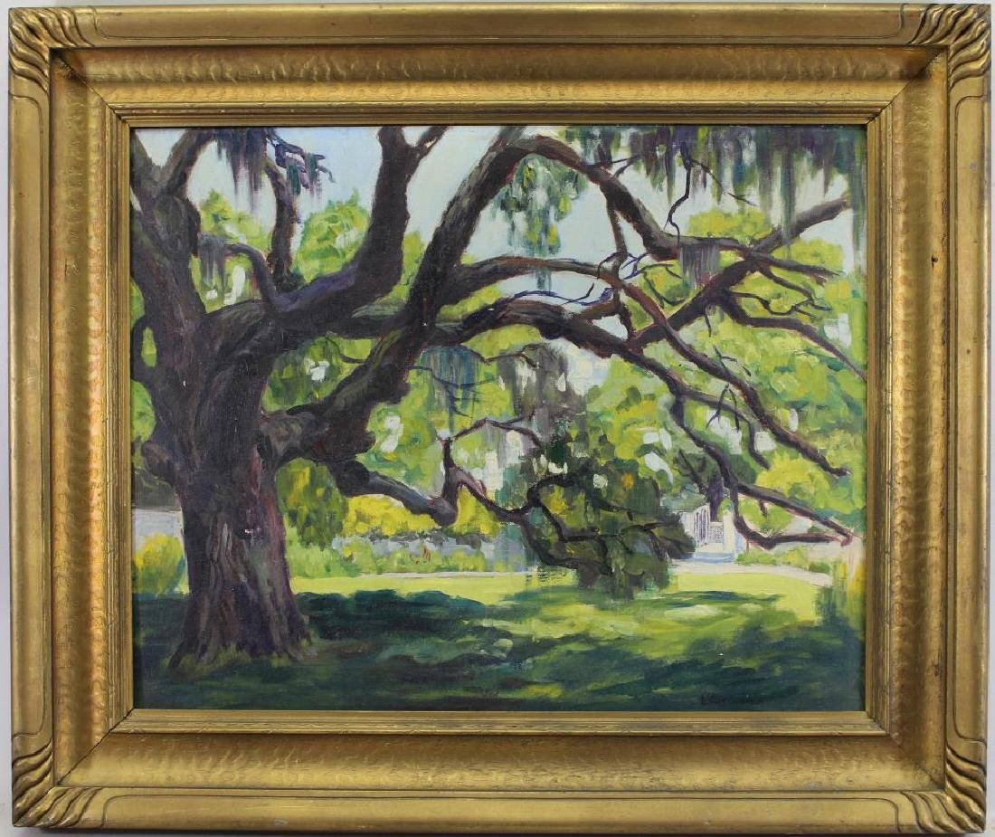 L'Amoreaux, Signed 20th C. Painting of a Sycamore