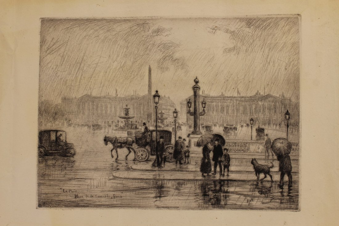 Frank Armington  (1876 - 1941) Paris Etching