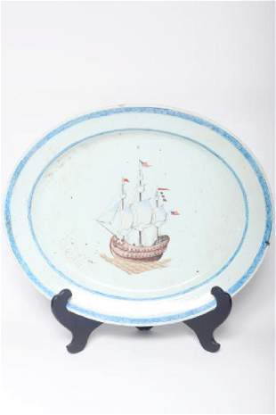 Important Chinese Export Platter American Market