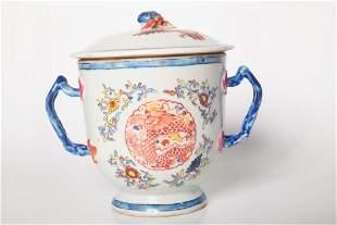 Chinese Export Sugar Bowl American Market