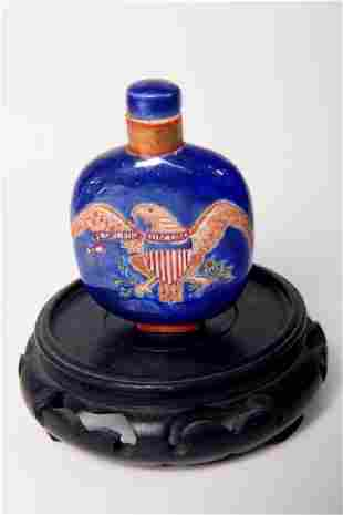 Chinese Export Porcelain Patriotic Snuff Bottle