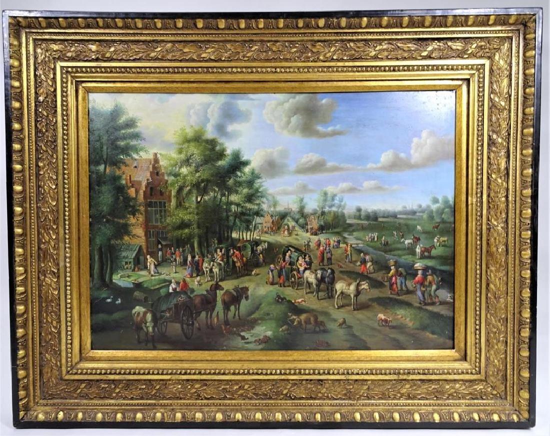 Dutch Landscape Oil on Copper / Gilt Framed