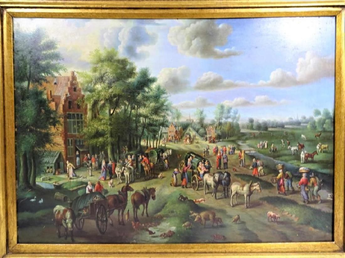 Dutch Landscape Oil on Copper / Gilt Framed - 2