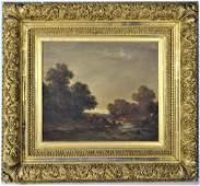 Signed J.G. Fisher, Oil on Canvas Illuminist Scene