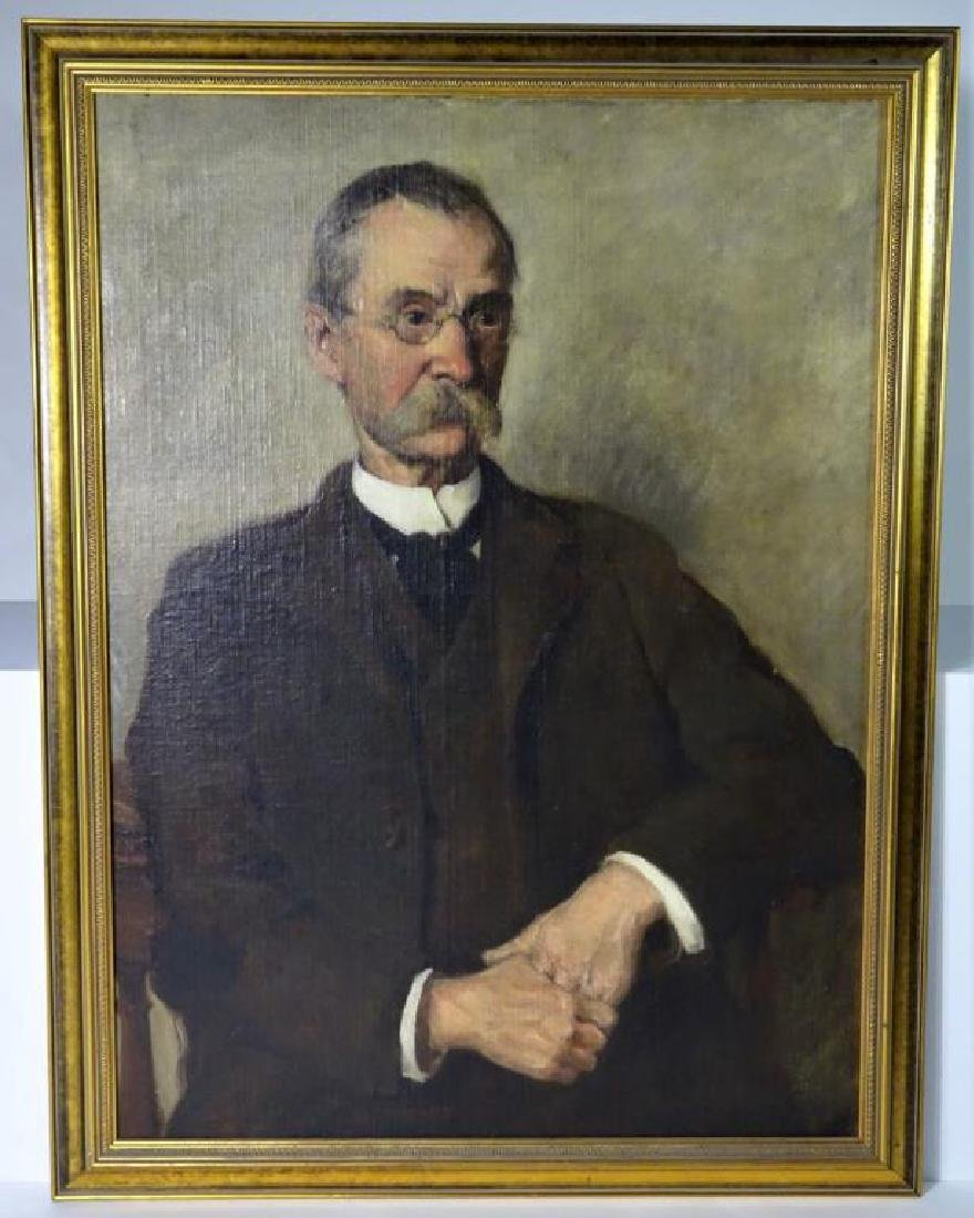 Early American portrait of a Gentleman, Oil on C/B