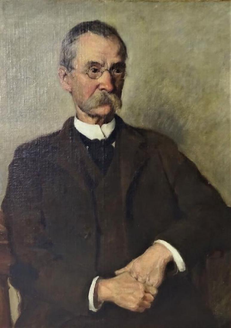 Early American portrait of a Gentleman, Oil on C/B - 2