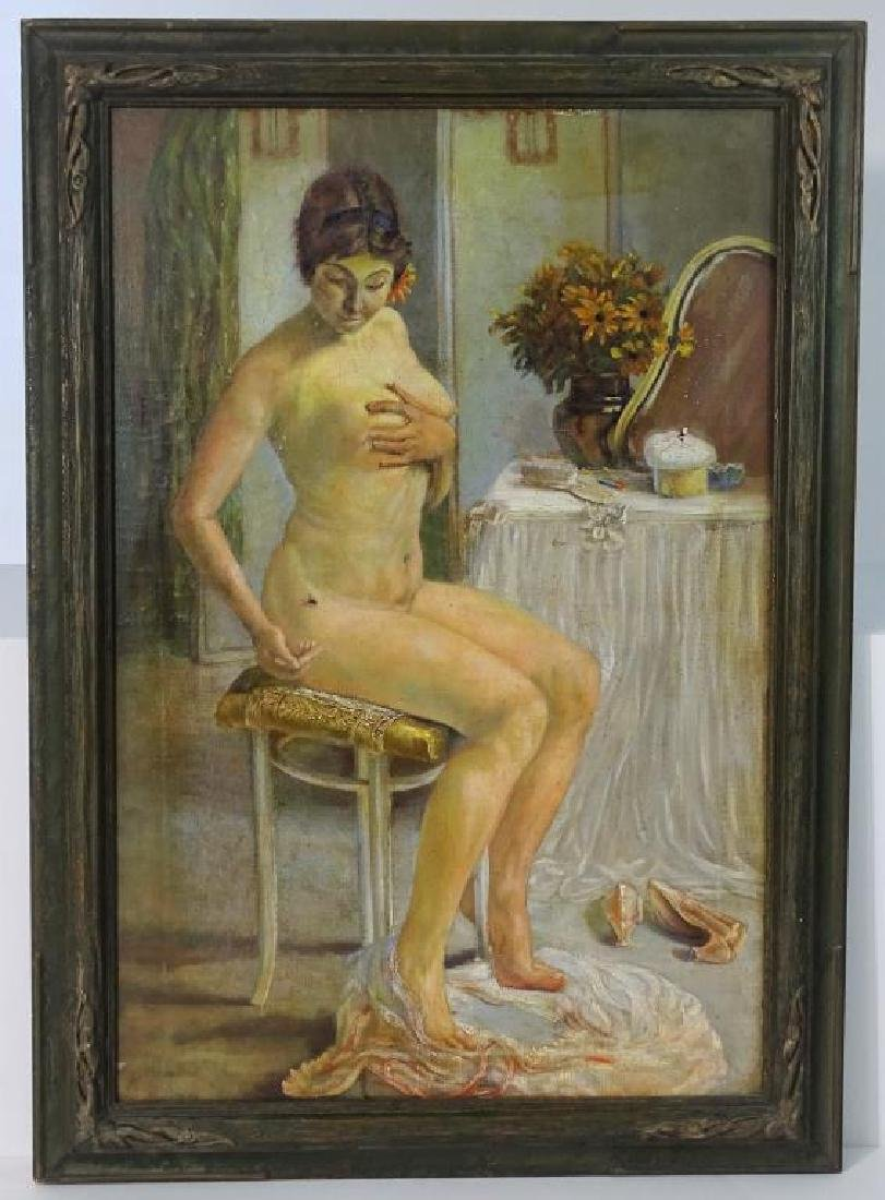Nude portrait, Oil on canvas