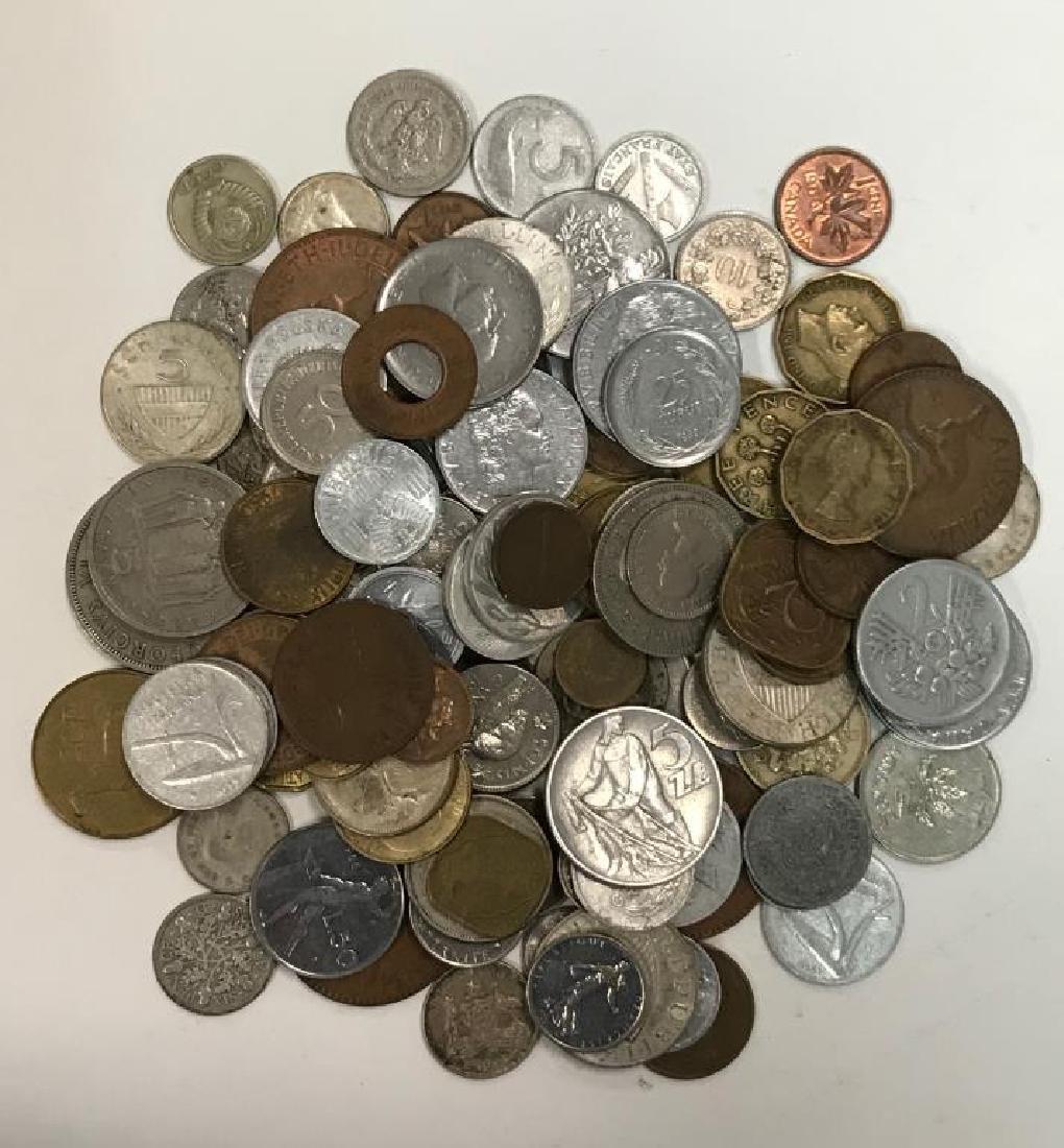 Assortment of World Coins; 116 coins