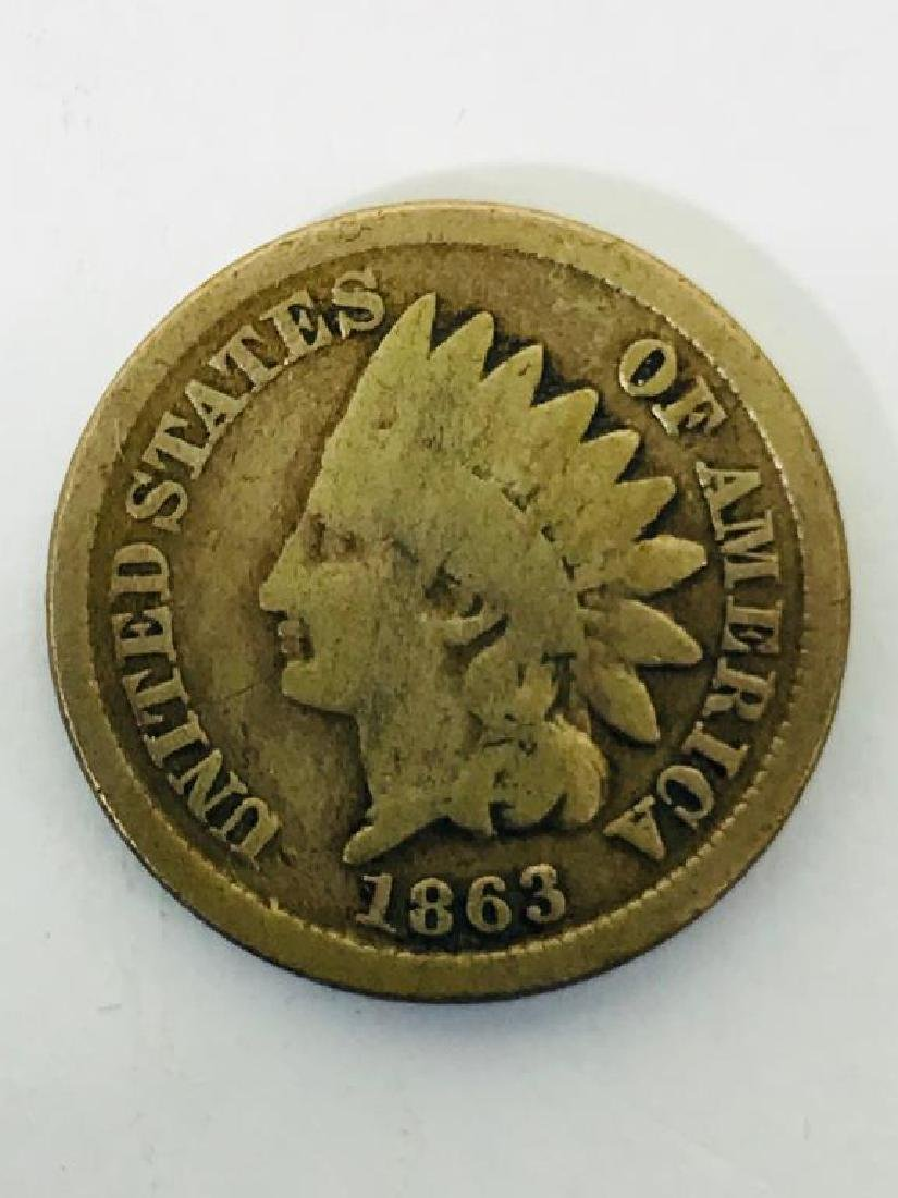 Seven (7) U.S. Civil War Indian Head Pennies - 3