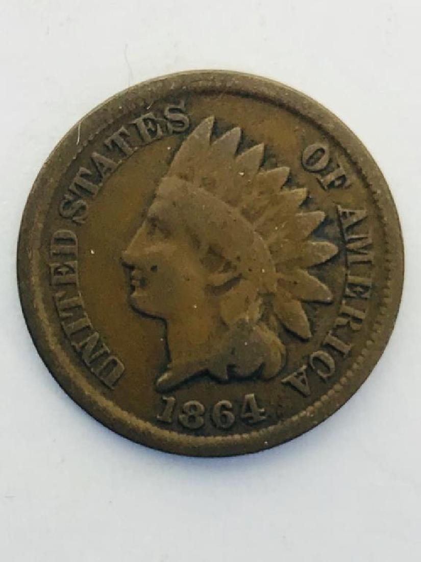 Seven (7) U.S. Civil War Indian Head Pennies - 5