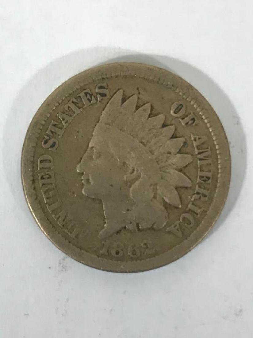 Seven (7) U.S. Civil War Indian Head Pennies - 9