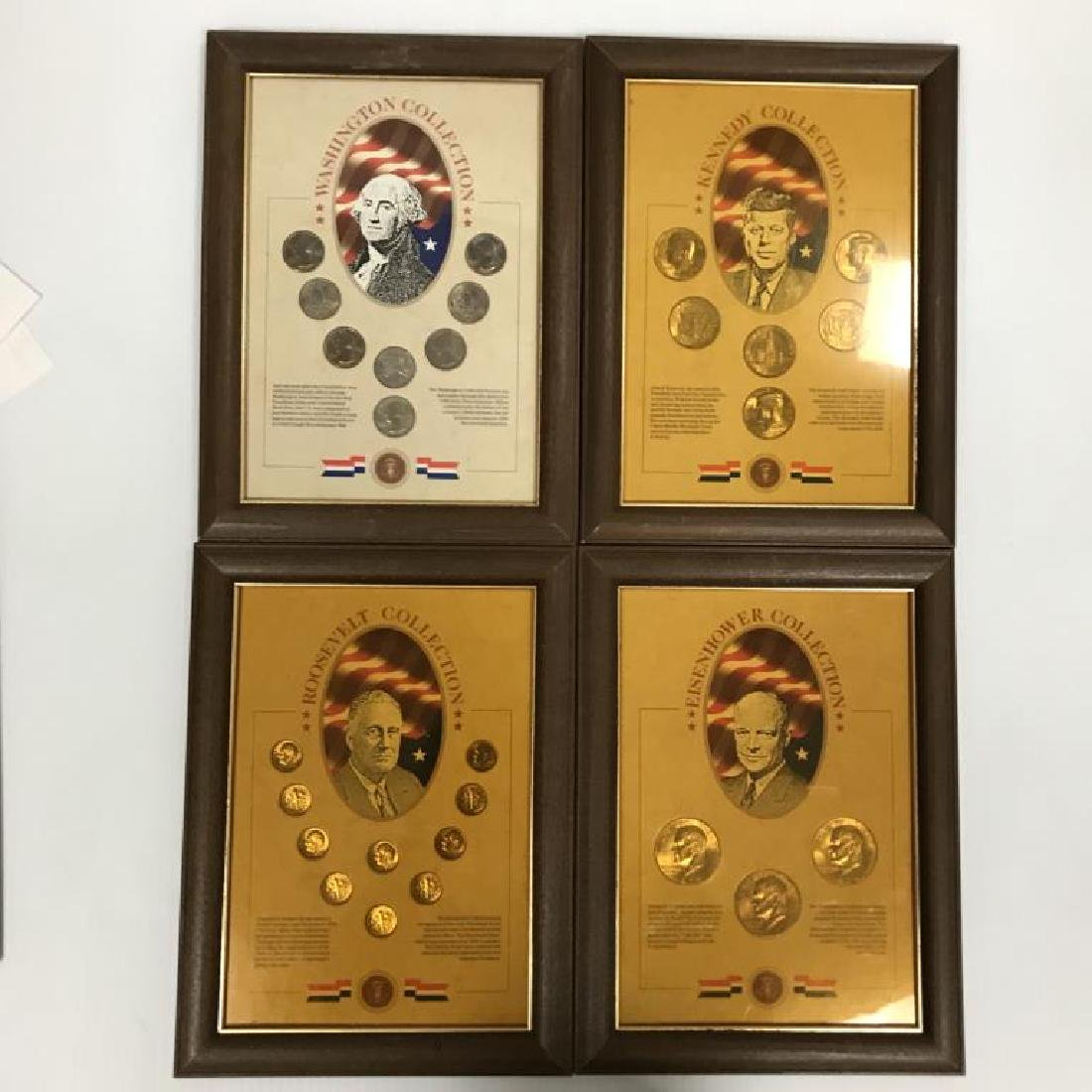 Collection of U.S. Coins in Display Cases