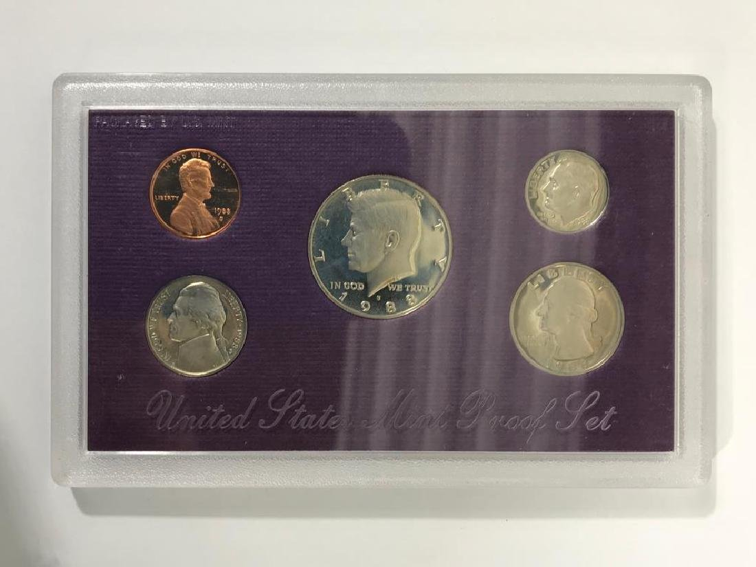 Collection of U.S. Coins in Display Cases - 4