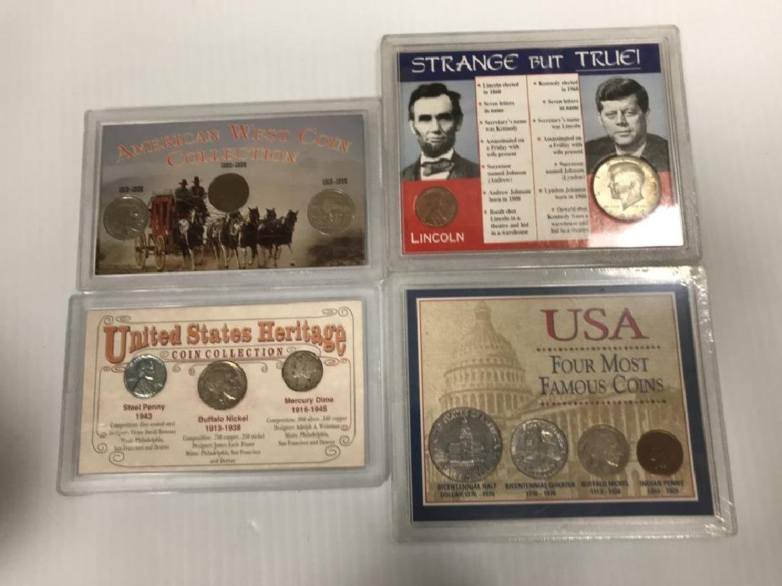 Collection of U.S. Coins in Display Cases - 6