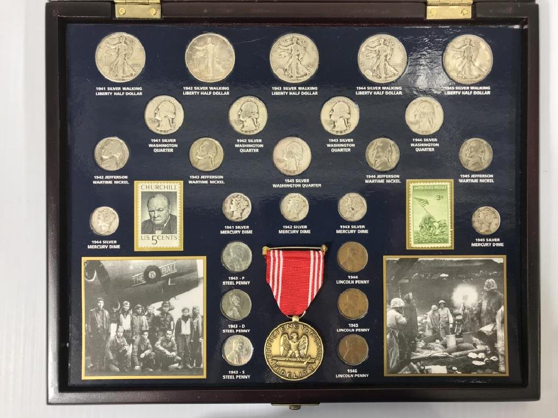 Collection of U.S. Coins in Display Cases - 8