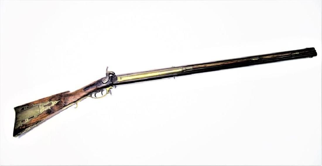 Rare Pennsylvania Rifle by Jacob Kunz 1830's