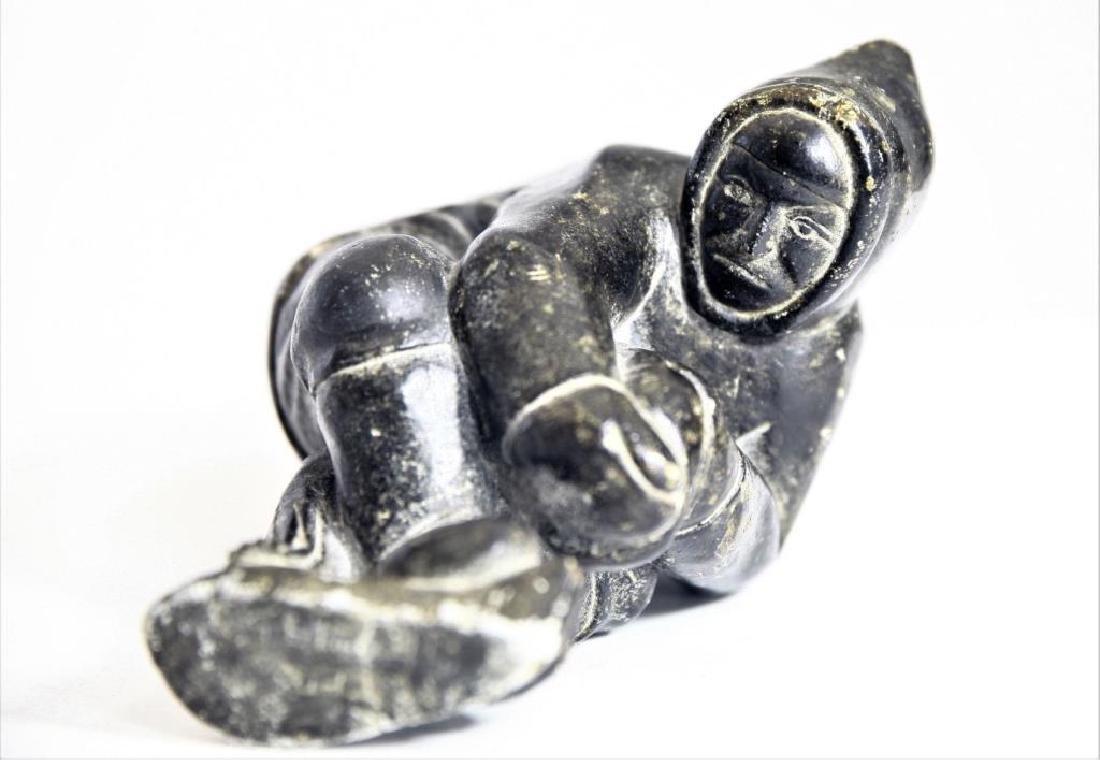Pair (2) Alaskan Inuit stone carvings