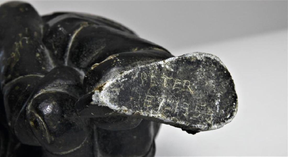 Pair (2) Alaskan Inuit stone carvings - 6