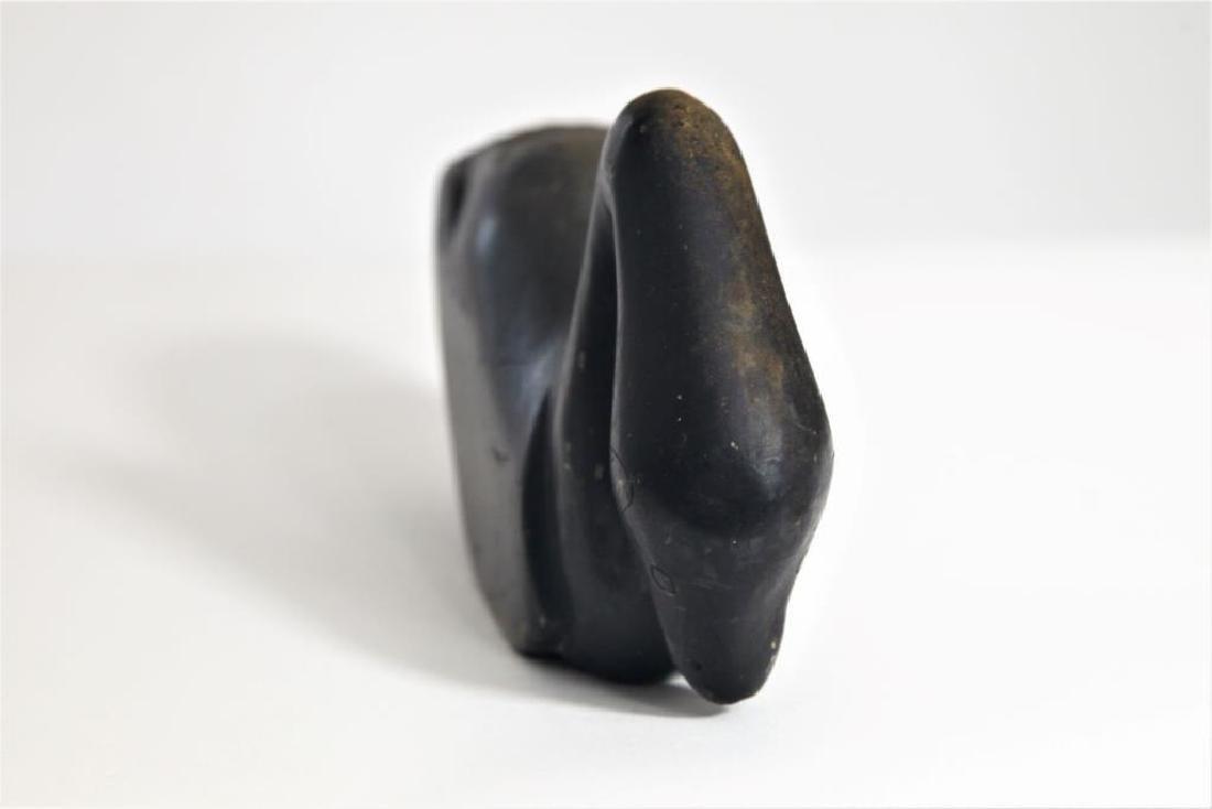 Pair (2) Alaskan Inuit stone carvings - 9