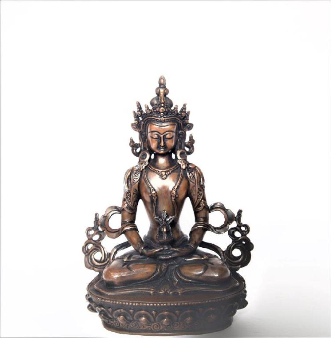 Set of 3 Asian Buddha Bronze Figures - 2