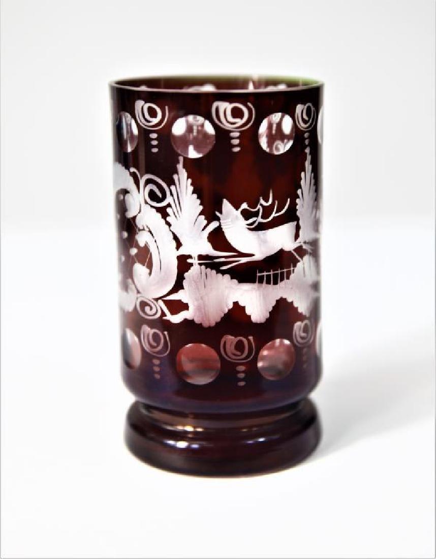 (6) Bohemian/Czechoslovakian wine stems, tumbler - 2