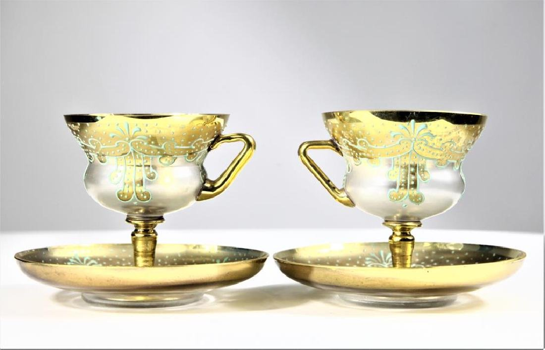 Pair of cups and saucers, Moser-type