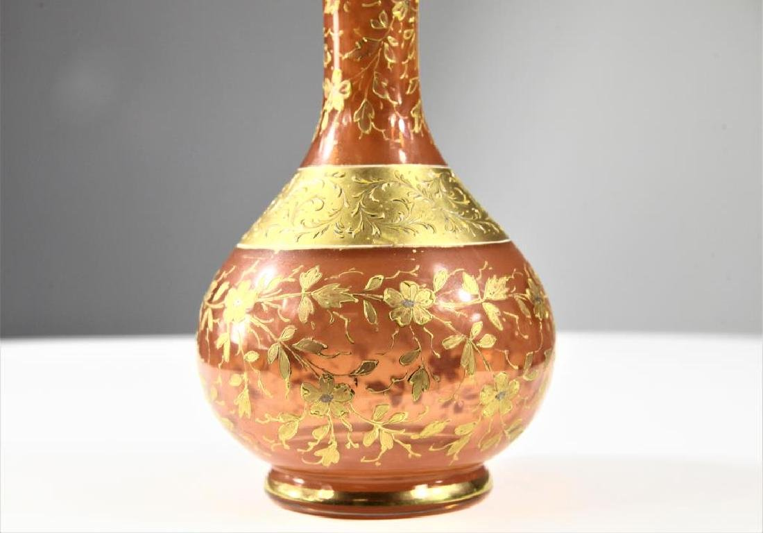 Russet vase with gold gilding, Moser-type - 4