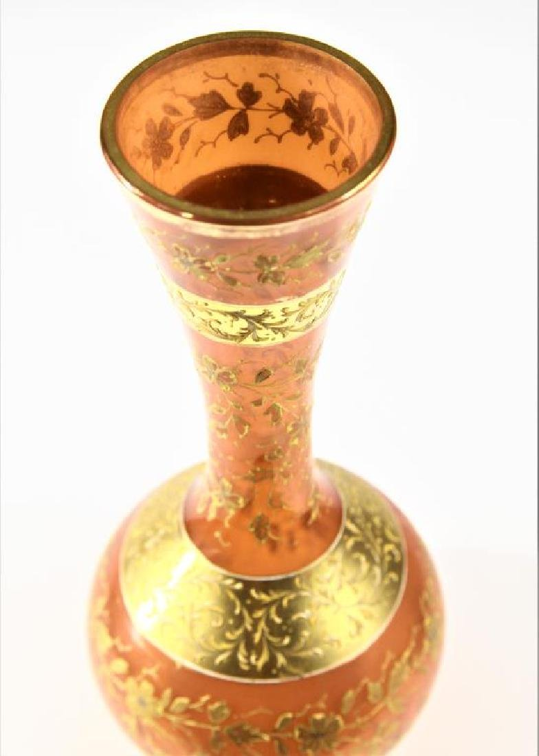 Russet vase with gold gilding, Moser-type - 7