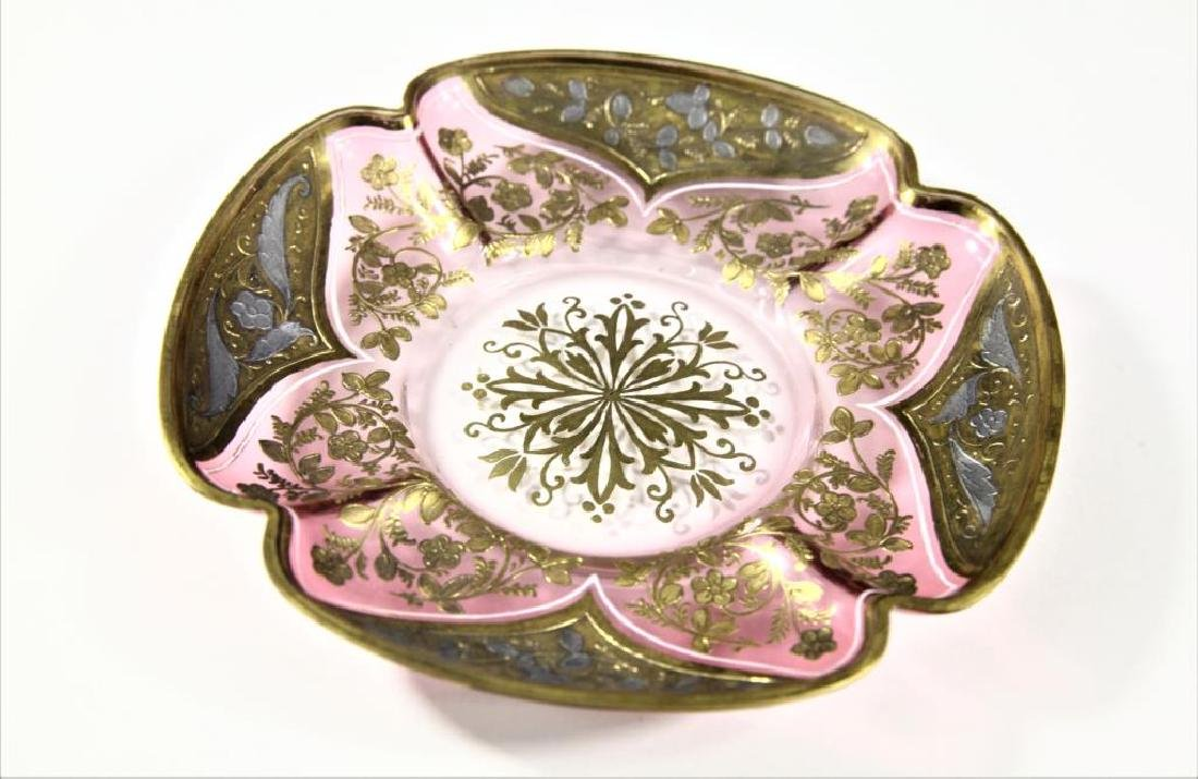 Amethyst plate with gold gilding - 3