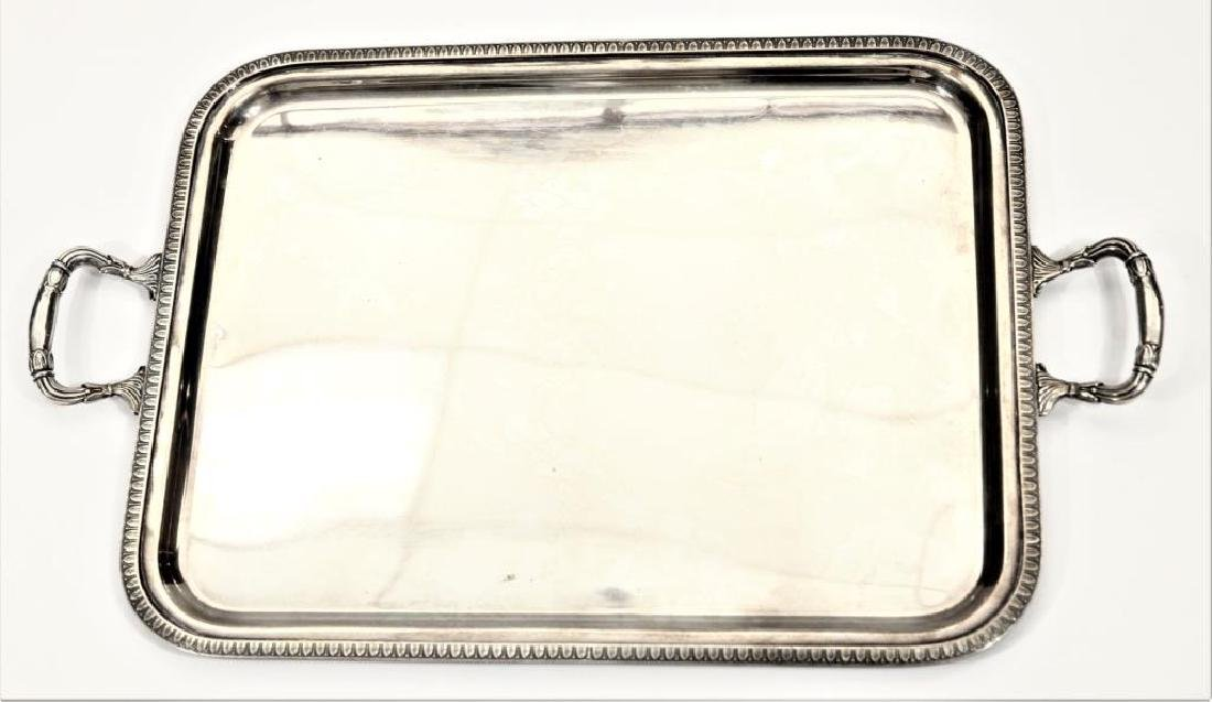 Sterling Silver Tray Twin Handled 59 Troy oz