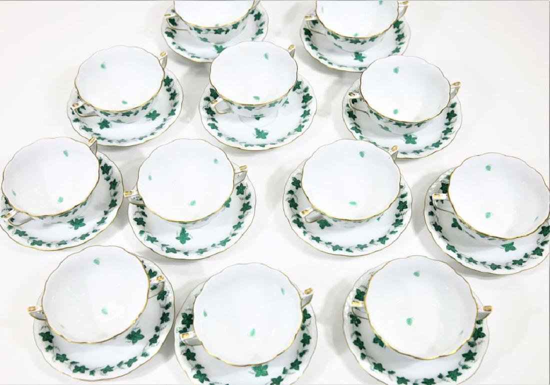 Herend Hungary Porcelain, 12 pieces with Tureen - 9