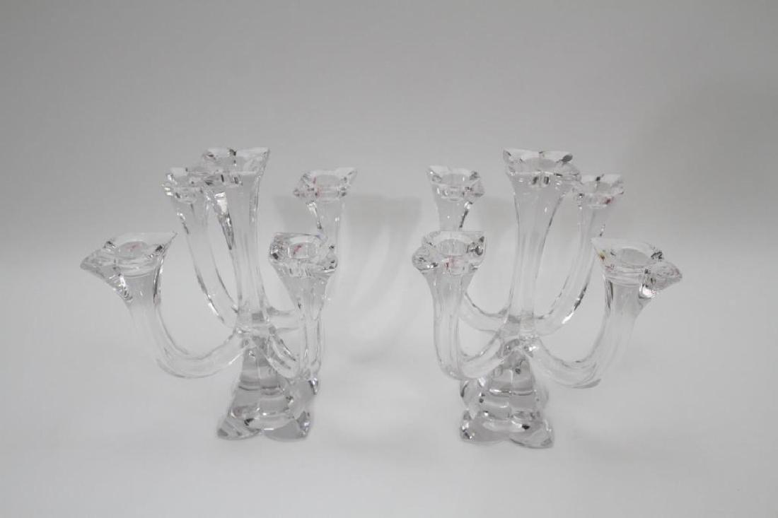 Pair of Villeroy & Boch Glass Candelabras