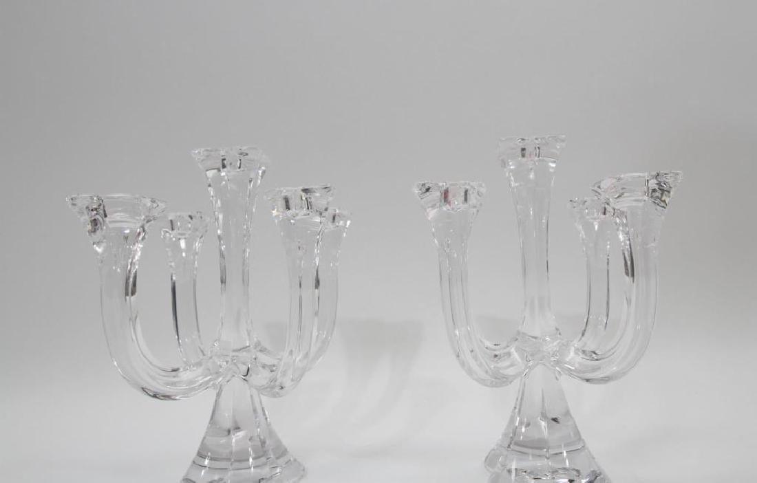Pair of Villeroy & Boch Glass Candelabras - 2