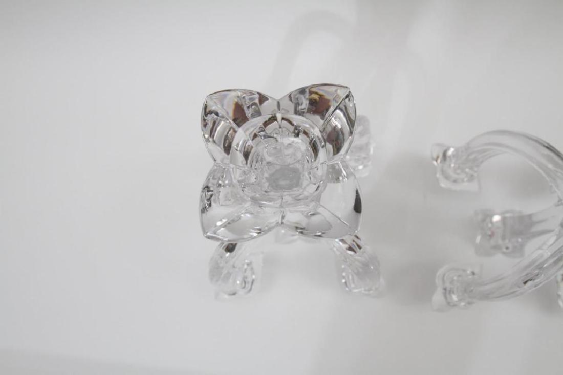 Pair of Villeroy & Boch Glass Candelabras - 7