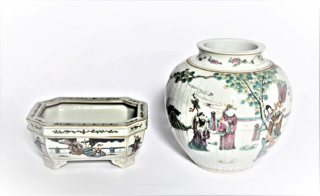 Antique Chinese Famille Rose Planter