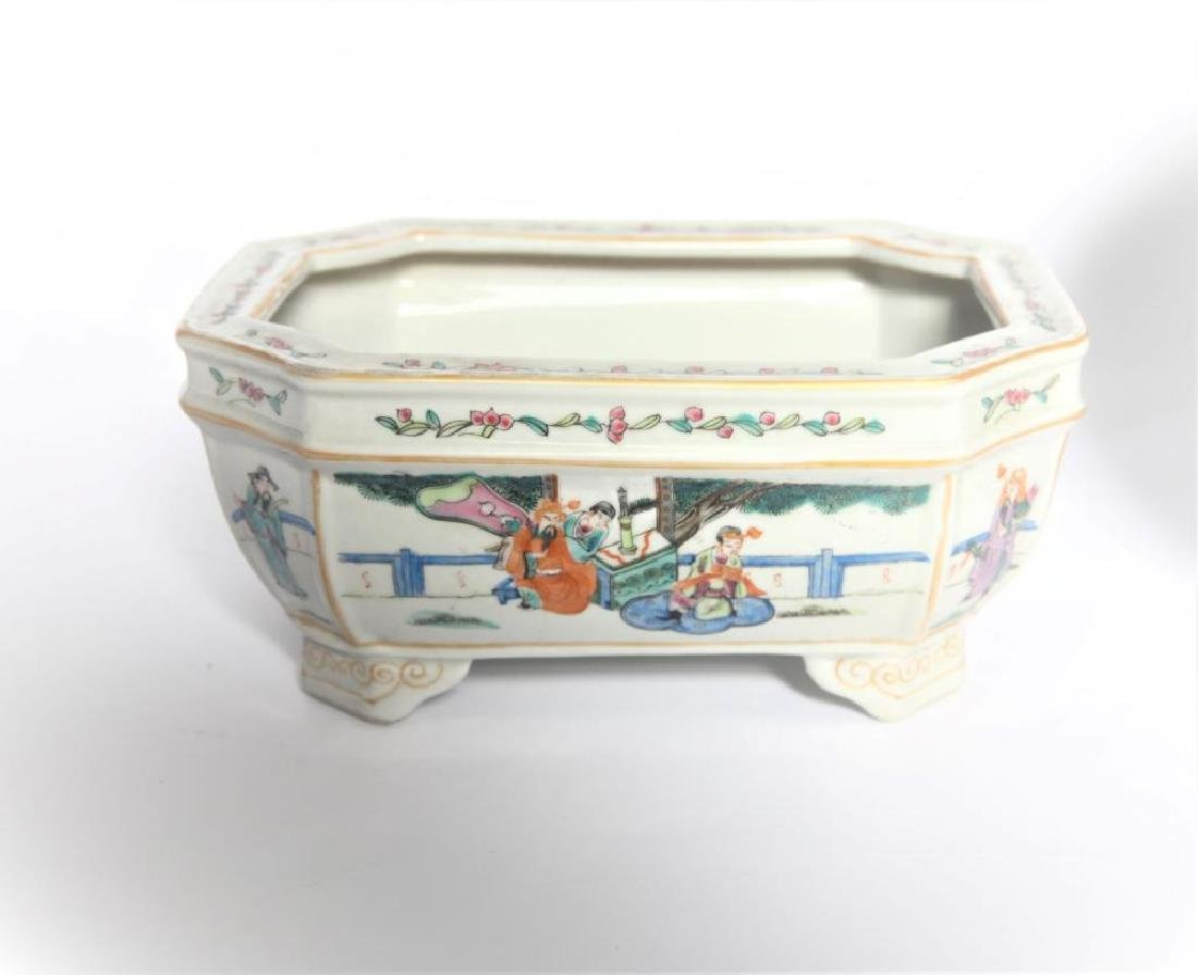 Antique Chinese Famille Rose Planter - 2