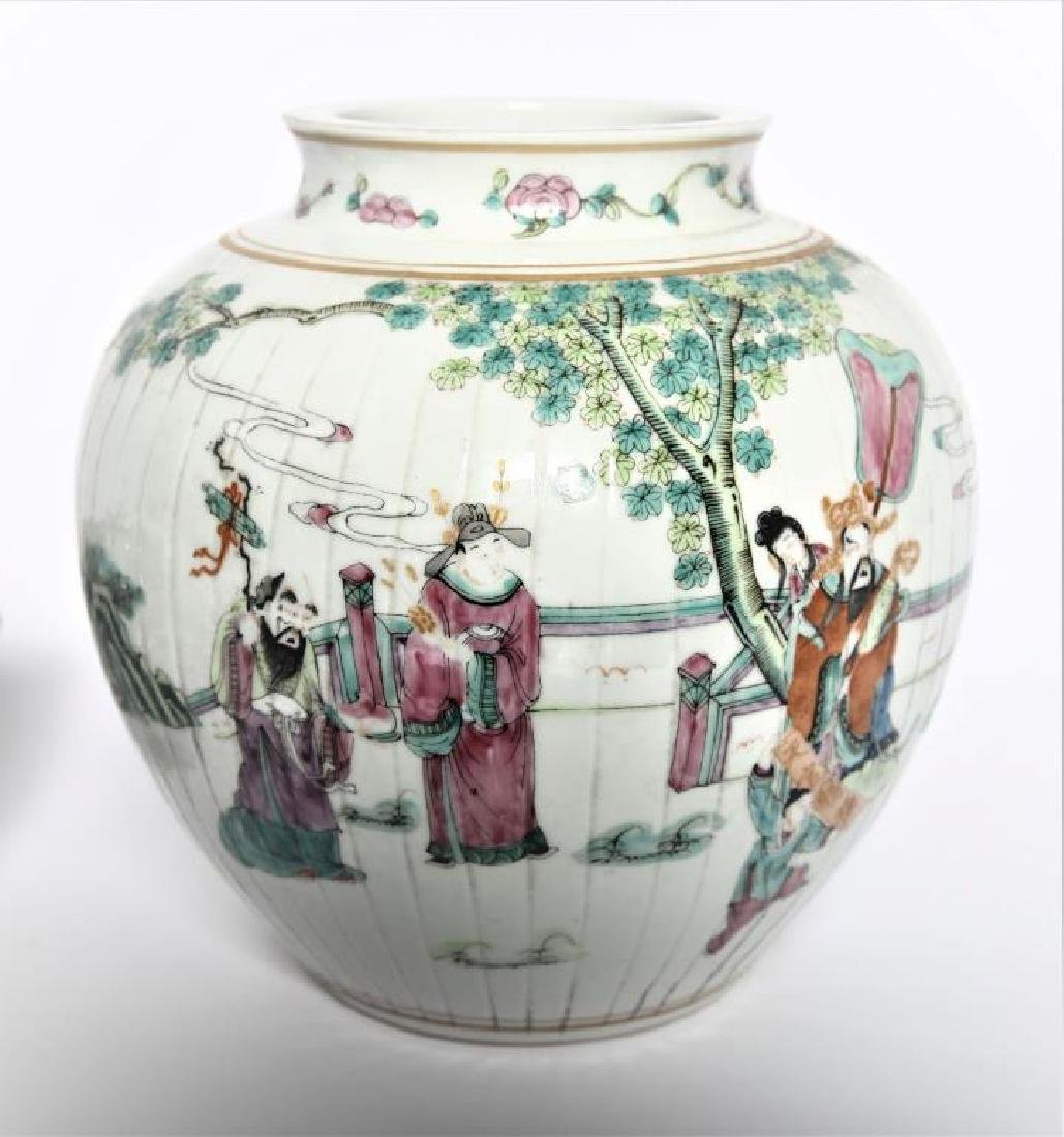 Antique Chinese Famille Rose Planter - 3