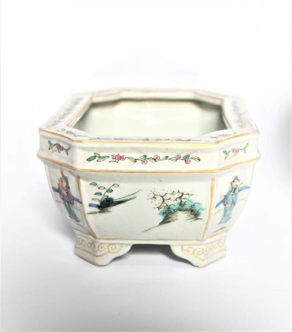 Antique Chinese Famille Rose Planter - 4