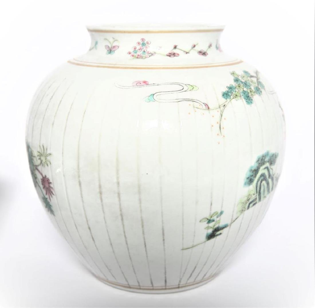 Antique Chinese Famille Rose Planter - 5