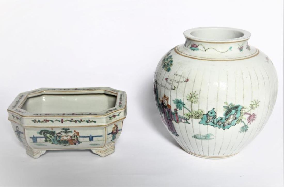 Antique Chinese Famille Rose Planter - 6