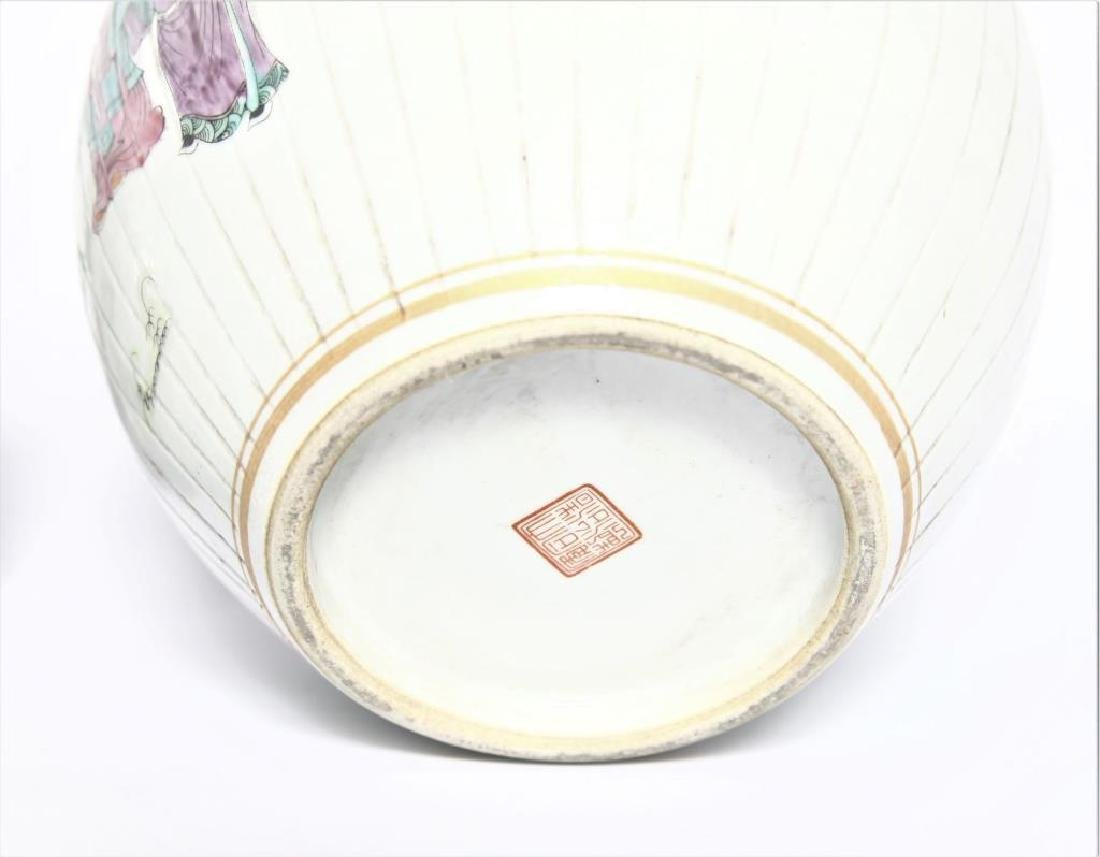 Antique Chinese Famille Rose Planter - 9