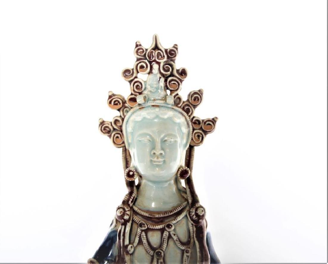 Chinese Porcelain Buddha Figure - 2